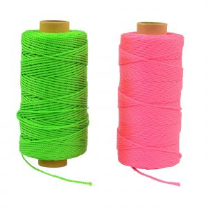Rolson 152m Extra Strong Fluorescent Brick Laying Line Rope String Green or Pink