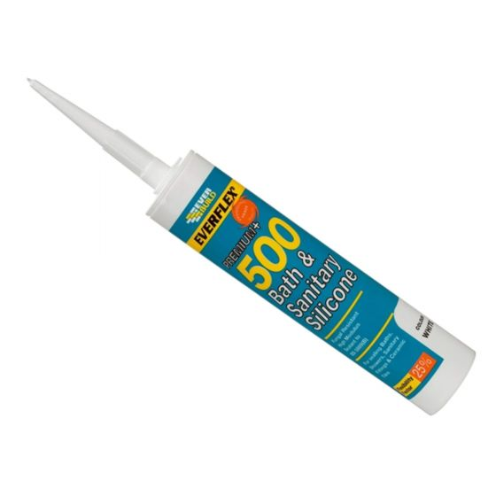 Everbuild Bath & Sanitary Frame Silicone 500 Mould Resistant Sealant Ivory 310ml