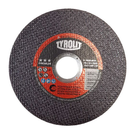 Tyrolit 115mm x 1mm Metal / Stainless Steel Cutting Disc 674471