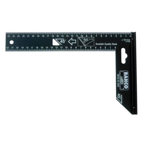 Bahco BAH9045B250 Measuring Aluminium Steel Try Square 250mm Angle Finder
