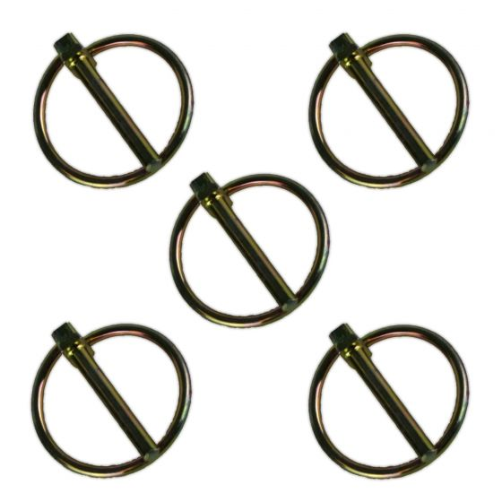 6x Trailer Security Lynch Ring Pins 45mm x 8mm Tractor Hitch Tow Bar Caravan