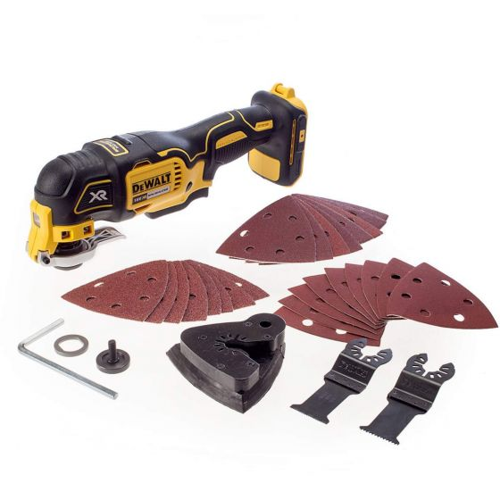 DeWALT DCS355N-XJ 18V XR BRUSHLESS Oscillating Multi Tool with 29 Accessories - Body Only