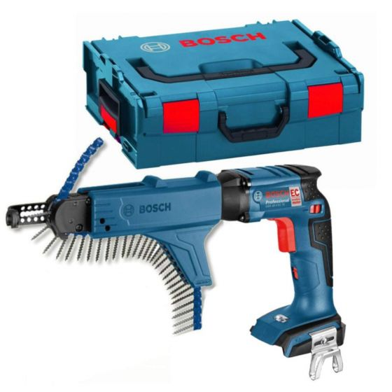 Bosch 18V BRUSHLESS Construction Screwdriver with L-BOXX Carry Case - Body Only