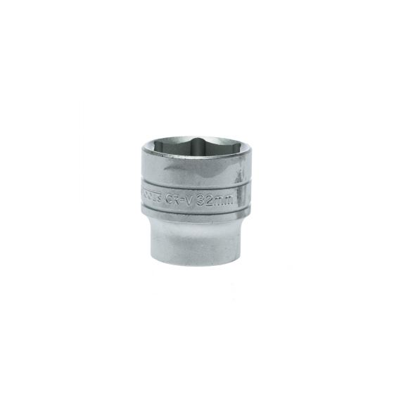 Teng Tools 1/2in Drive 32mm Socket Hex 6 Point Regular Metric M1205326-C