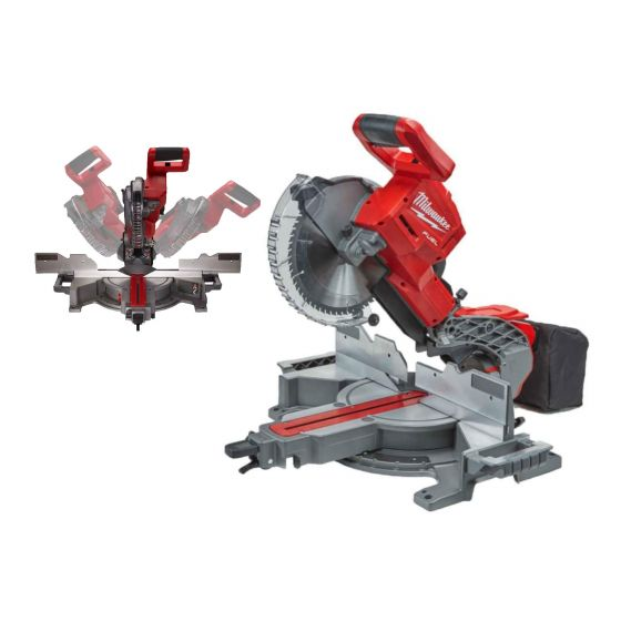"""Milwaukee M18 18V FUEL 10"""" Double Bevel Slide Mitre Saw - Body Only"""