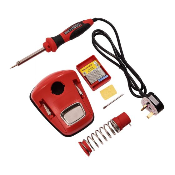 Amtech 30W Soldering Iron Station Stand Holder with Sponge & Helping Hand S1745
