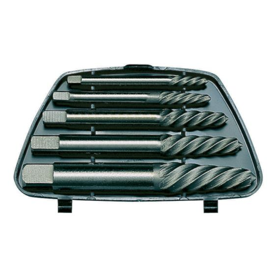 Teng Tools SE05 5pc Screw Extractor Remover Set 7/64 9/64 5/32 1/4 & 19/64in