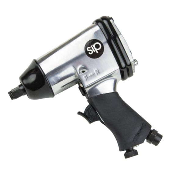 SIP 1/2in Air Impact Wrench Tool 312Nm 230ft/lbs Torque 90PSI 4CFM 06787
