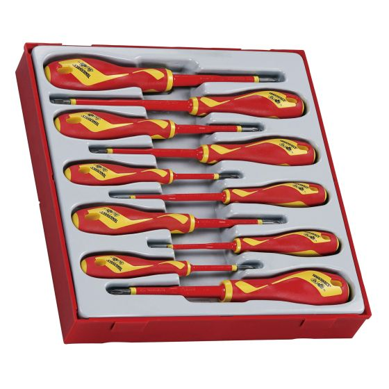 Teng Tools 10pc Insulated VDE Screwdriver Set 1000V TTDV910N - Tool Control System