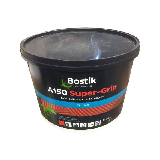 Bostik Super-Grip Ready Mixed Bathroom + Kitchen Wall Tile Adhesive 10L