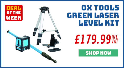 OX Tools Green Laser Level Kit