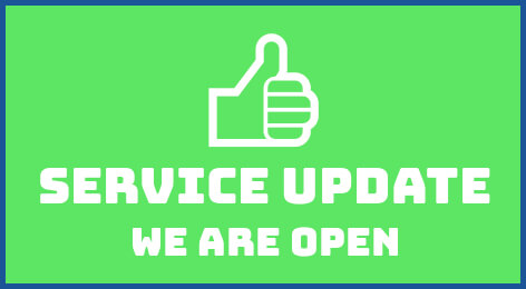 Service Update - We Are Open