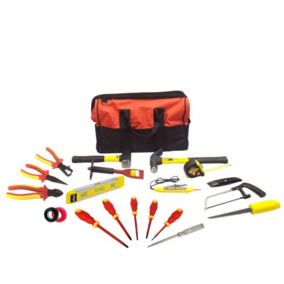 15pc Electrician Starter Tool Kit - Apprentice Electrical Tool Set